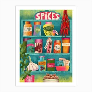 Spices Chart Art Print
