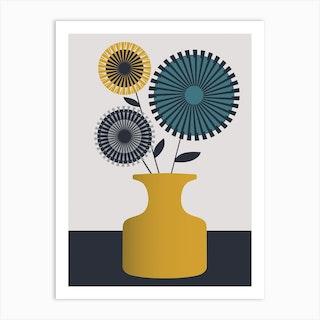 Mustard Vase Art Print