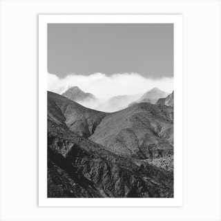 Clouds In The Mountains Art Print