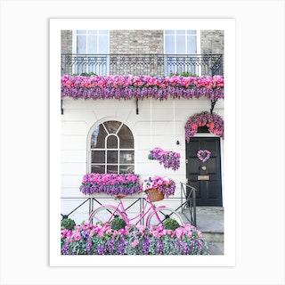 Pink Purple Belgravia Bicycle Art Print