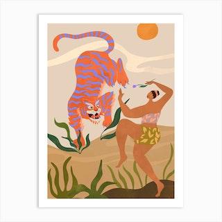 Tiger Dance Art Print
