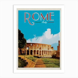 Rome Colosseum Travel Poster Art Print