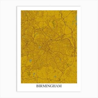 Birmingham Yellow Blue Art Print