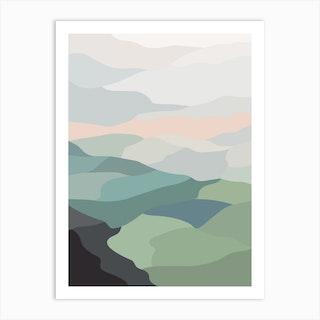 Farmland Sunset 2 Art Print