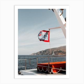 Ferry To Hydra Greece Art Print