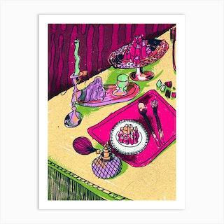 Crystal Meal Warm Art Print