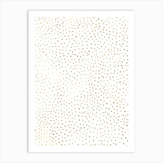Dotted Gold And White Art Print