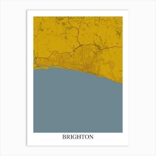 Brighton Yellow Blue Art Print