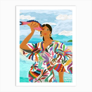 Mexican Colors Art Print