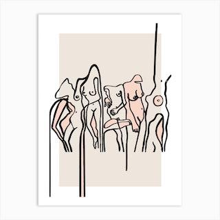 Nudists Art Print
