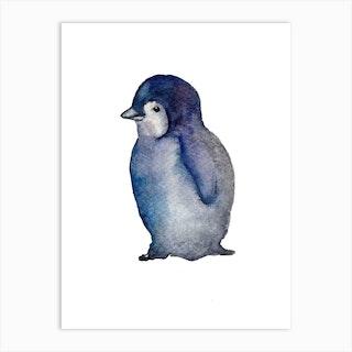 Penguin Chick Art Print