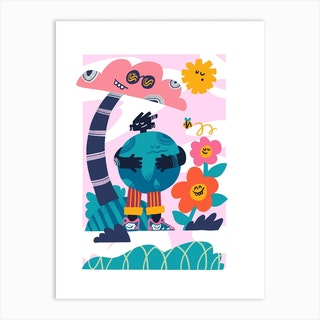 Earth Love Art Print