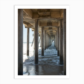 Huntington Beach Pier Art Print