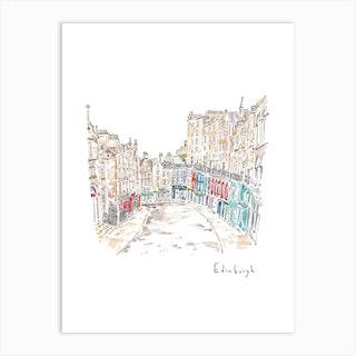 A Stroll Through Edinburgh Art Print