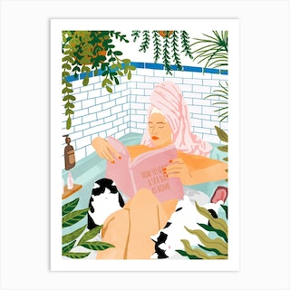 How To Have A Spa Day At Home Art Print