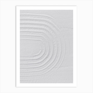 White Textures 1 Minimal Rainbow Art Print