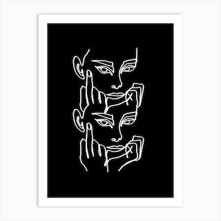 Moody Bw Art Print