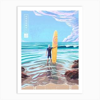 Surf Cornwall Art Print