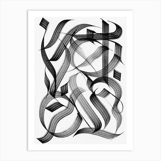 Outline Study 1 Art Print