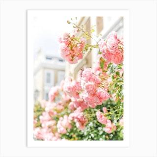 Peach Spring Blooms Art Print