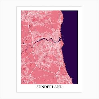 Sunderland Pink Purple Art Print