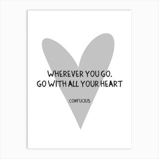 Confucius Quote Art Print
