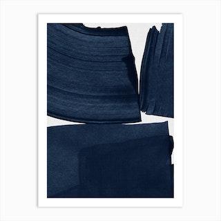 Minimalist Painting Blue I Art Print