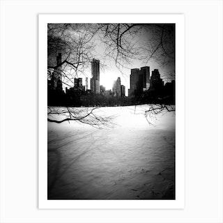 New York City Winter Skyline 2 Art Print