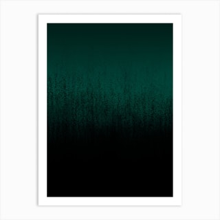 Emerald Ombré Art Print