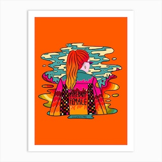 Fired Up Art Print
