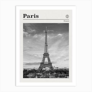 Paris Black And White Art Print