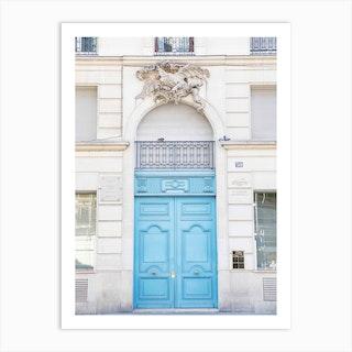 Blue Door Paris Art Print