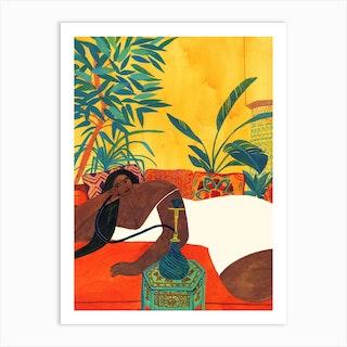 Yellow Morocco Art Print