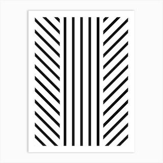 Lined Black Art Print