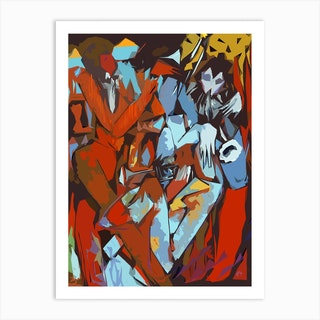 Trumpet Triplet Abstract Art Print