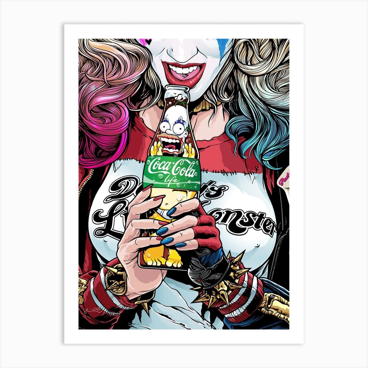 Harley Quinn Art Print By Joshua Budich Art Fy