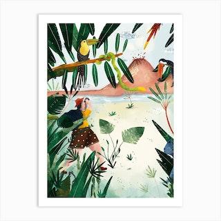L Exploratrice  Art Print