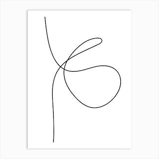 Line Art One Art Print