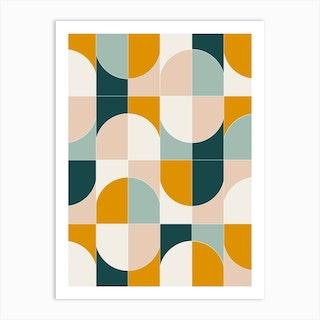 Bold Geo Tiles 01 Art Print