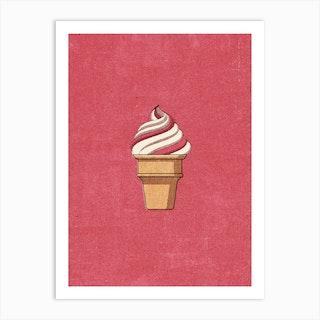 Fast Food Ice Cream Art Print