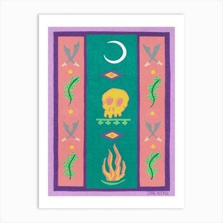 Moon And Fire Art Print