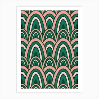 Rainbow Rows Thrive Art Print