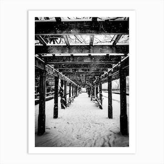 Central Park Winter Art Print