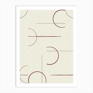 Minimal Rustic Tiles 02 Art Print