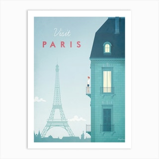 Visit Paris Eiffel Tower Art Print