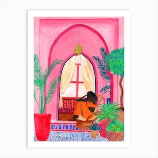 Melancholy In Pink Art Print