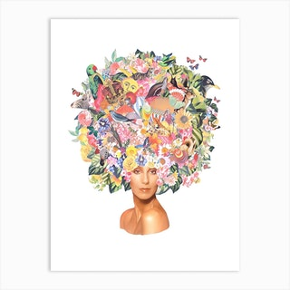 Cher Watercolour Collage Art Print