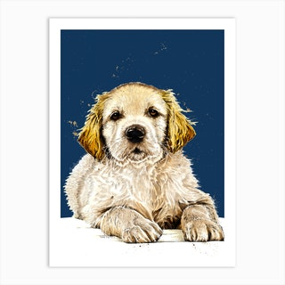 The Guide Dog Puppy Art Print