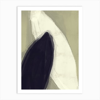 Scandi Leafs Art Print