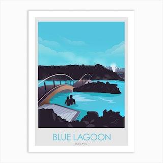Blue Lagoon Iceland  Art Print